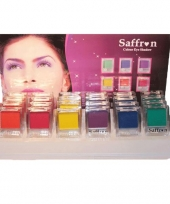 Saffron oogschaduw neon kleuren