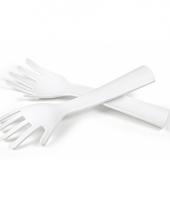 Saladevorken in de vorm van handen