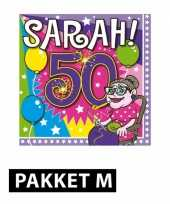 Sarah 50 jaar versiering pakket