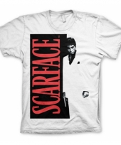 Scarface kleding heren t-shirt wit