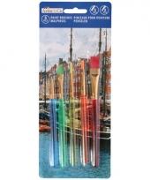 Schilders penselen voor kinderen 5 stuks