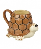 Schildpad koffie thee mok 10 cm
