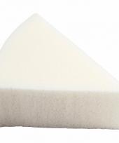 Schminksponsjes wit driehoekig 8 stuks
