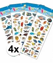 School stickers pakket zeedieren thema