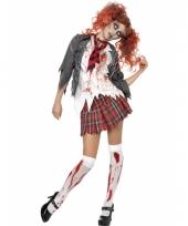 Schoolmeisje kostuum met bloed