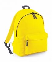 Schooltas geel 18 liter