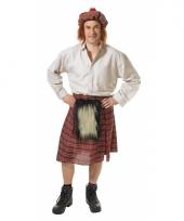 Schots kostuum met rok en hoed voor heren