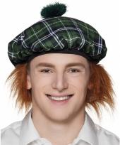 Schotse verkleedaccessoires muts