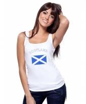 Schotse vlag tanktop singlet voor dames