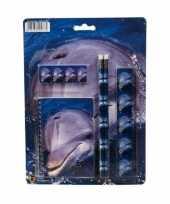 Schrijfwaren setje met dolfijnen prent