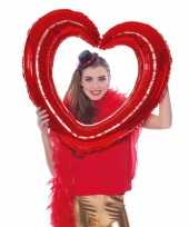 Selfie foto frame hart rood 80 x 75 cm