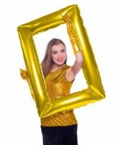 Selfie foto frame rechthoek goud 85 x 60 cm