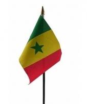 Senegal luxe zwaaivlaggetje polyester