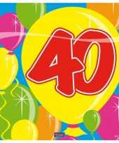 Servetten 40 jaar 25 stuks