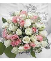 Servetten bruiloft boeket 3 laags 40 stuks