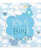 Servetten geboorte jongen 20 stuks