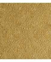 Servetten gouden barok 3 laags 15 stuks