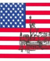 Servetten met amerikaanse vlag