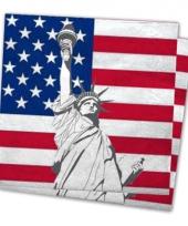 Servetten met vlag van verenigde staten 20x