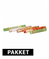 Set b met 100 wierook stokjes in vijf verschilende geuren