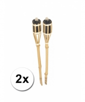 Set tuinfakkels van bamboe 61 cm