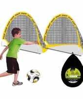 Set van 2 voetbal goals 80 x 60 x 60 cm