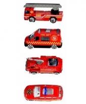 Set van 4 die cast brandweerauto s