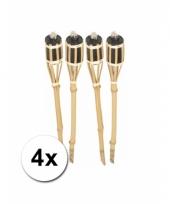 Set van 4 tuinfakkels van bamboe 61 cm