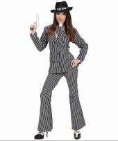 Sexy maffia kostuum voor dames
