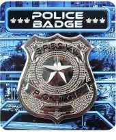 Sheriff broche zilver kostuum accessoire