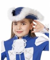 Showdans hoedje voor meiden blauw met wit