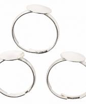 Sieraden maken basis ring 15 stuks