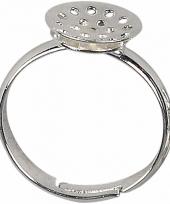 Sieraden maken basis ring met gaatjes 3 stuks