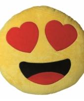 Sierkussen emoticon verliefd 30 cm