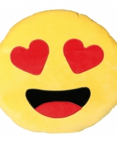 Sierkussen emoticon verliefd 50 cm