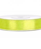 Sierlint satijn 25 meter lang neon groen 10085139