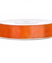 Sierlint satijn 25 meter lang neon oranje 10085137