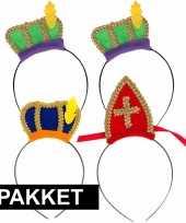 Sint en piet intocht accessoires pakket voor 4 personen