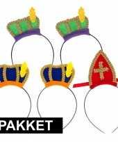 Sint en piet intocht accessoires pakket voor 5 personen