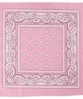 Sjaal roze met print