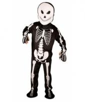 Skelet kostuum zwart wit