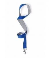 Sleutelkoord blauw met grijs 50x2 cm