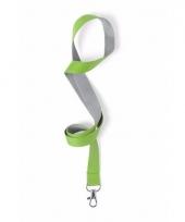 Sleutelkoord groen met grijs 50x2 cm