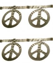 Slinger zilver peace 5 m
