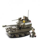 Sluban bouwsteentjes tank met soldaten