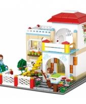 Sluban groot huis blokjes bouwset