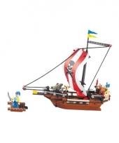 Sluban piratenbootje blokjes bouwset