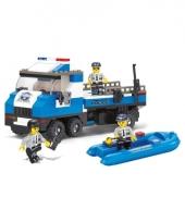 Sluban politieauto boot blokjes bouwset