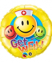 Smiley beterschap folieballon 45 cm