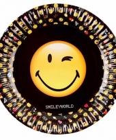 Smiley kinderfeestje borden 8 stuks